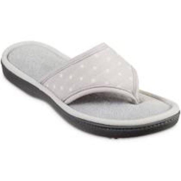 Women's isotoner Ada Jersey Polka-Dot Slippers